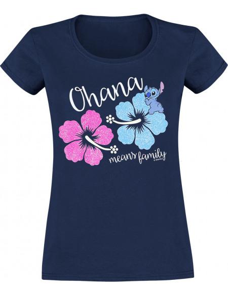 Lilo & Stitch Ohana - Blossom T-shirt Femme bleu