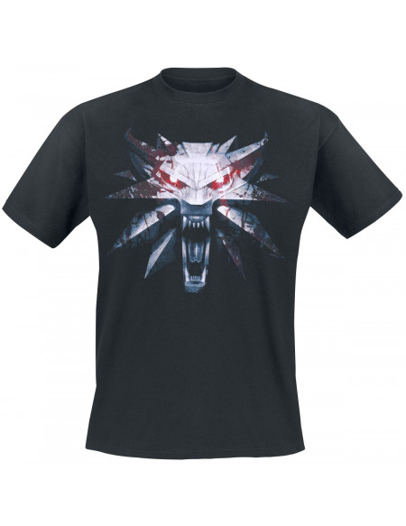 The Witcher Médaillon T-shirt noir