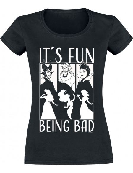 Disney Villains It´s Fun Being Bad T-shirt Femme noir