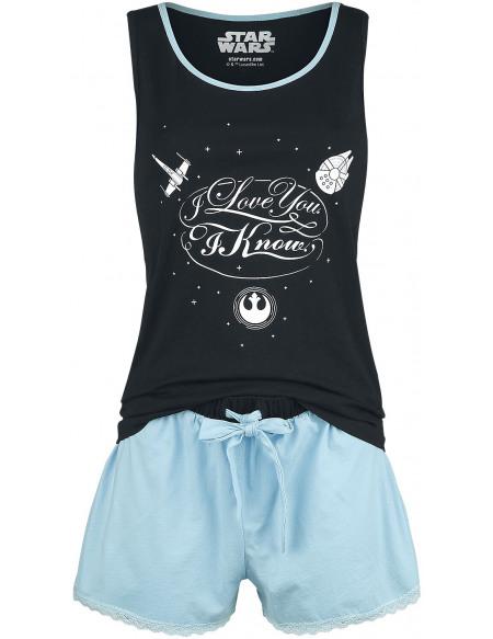 Star Wars I Love You Pyjama bleu clair/noir