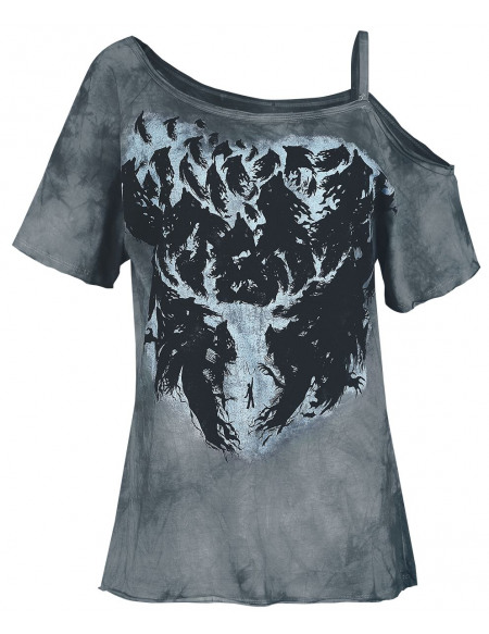 Harry Potter Expecto Patronum T-shirt Femme gris/bleu