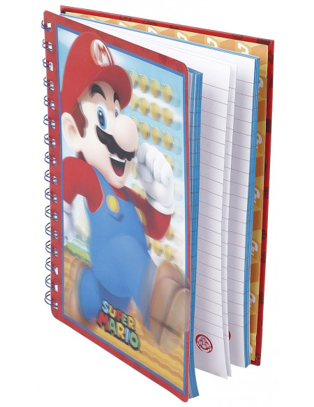 Super Mario Mario - Carnet Cahier Standard