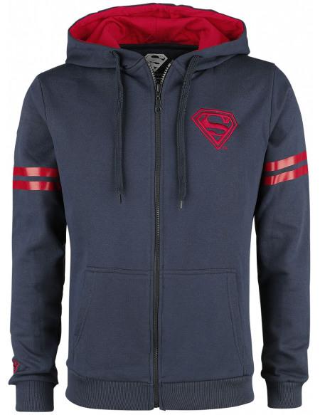 Superman Sweat Zippé à Capuche bleu