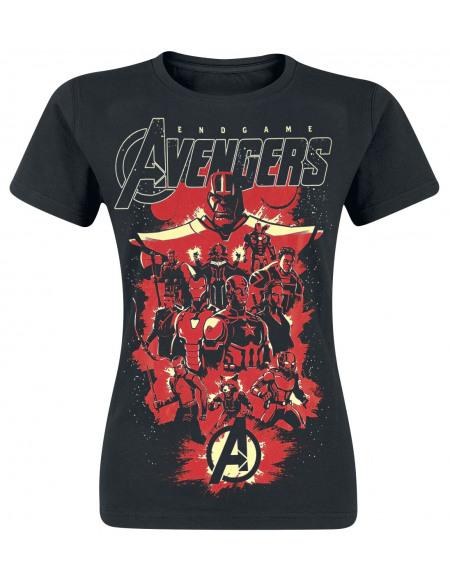 Avengers Endgame - Team Up T-shirt Femme noir