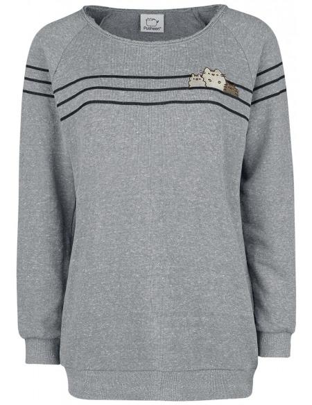 Pusheen Pusheen And Friends Sweat-shirt Femme gris/noir