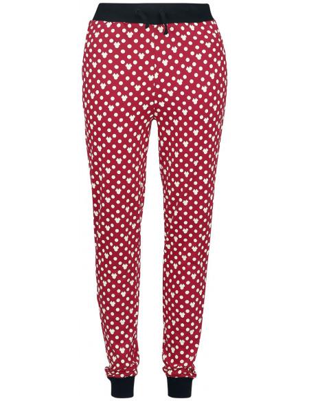 Mickey & Minnie Mouse Minnie Polka Dots Bas de pyjama rouge/blanc