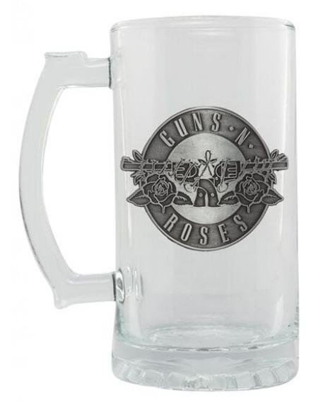 Guns N' Roses Guns N' Roses Logo Chope à bière transparent