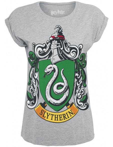 Harry Potter Serpentard - Logo T-shirt Femme gris chiné