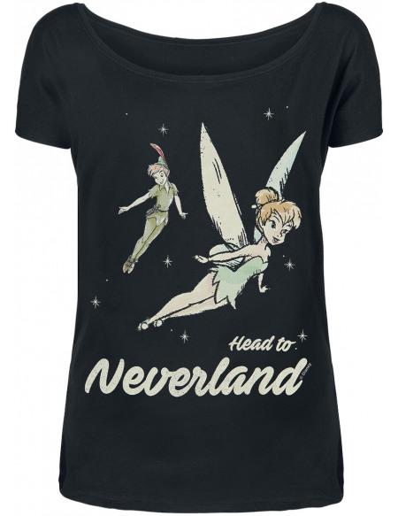 Peter Pan Fée Clochette - Head To Neverland T-shirt Femme noir
