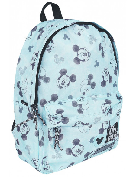 Mickey & Minnie Mouse Micky - Oh Boy Sac à Dos bleu clair