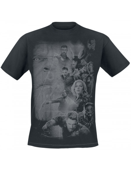 Avengers Group T-shirt noir