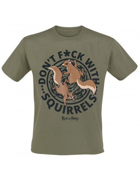 Rick & Morty Don't F*ck With Squirrels T-shirt kaki