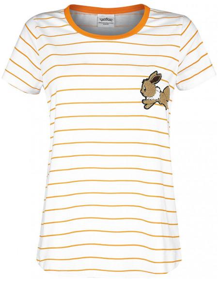 Pokémon Évoli T-shirt Femme blanc/orange