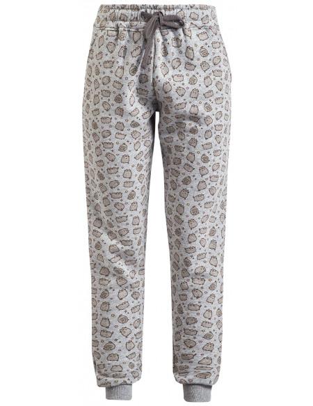 Pusheen Cat Allover Pantalon Femme gris clair chiné