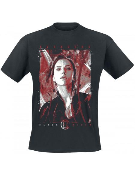 Avengers Black Widow T-shirt noir
