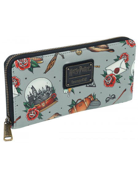 Harry Potter Loungefly - All Over Portefeuille multicolore