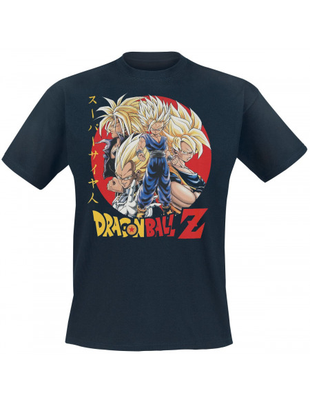 Dragon Ball Z - Super Saiyans T-shirt bleu foncé