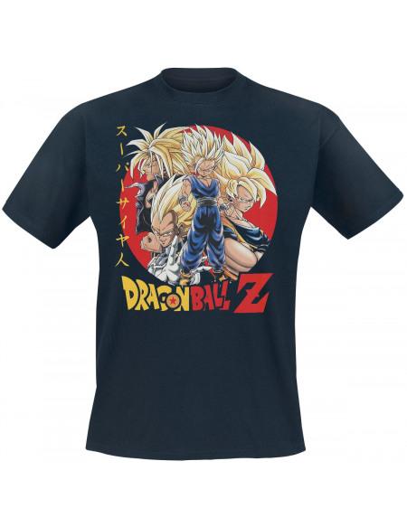 Dragon Ball Z - Super Saiyans T-shirt bleu foncé