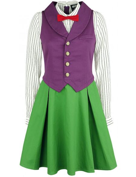 Le Joker Cosplay Robe lilas/vert