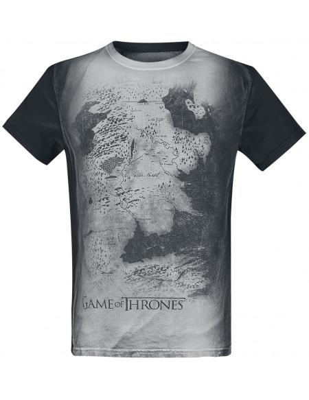 Game Of Thrones Carte De Westeros T-shirt blanc/noir
