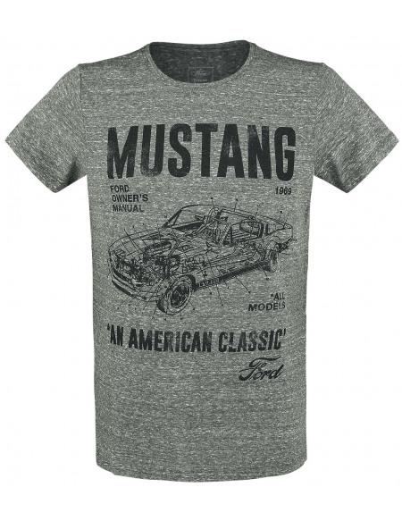 Ford Mustang An American Classic T-shirt vert chiné