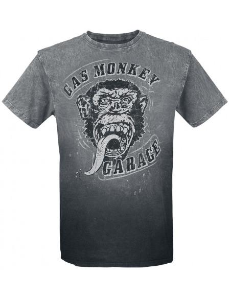 Gas Monkey Garage Big Face T-shirt noir