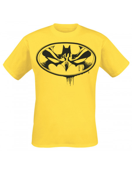 Batman Face in Symbol T-shirt jaune