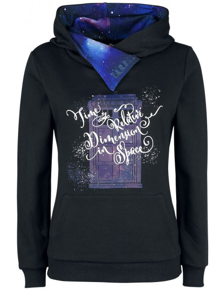 Doctor Who Time And Relative Dimension In Space Sweat à capuche noir