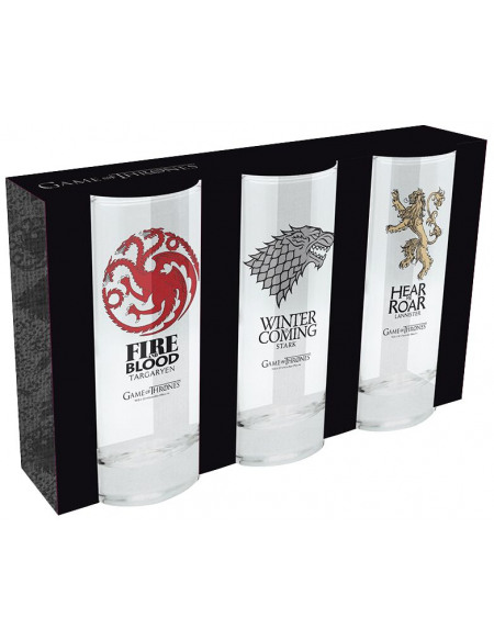 Game Of Thrones Noble Houses Set verres transparent