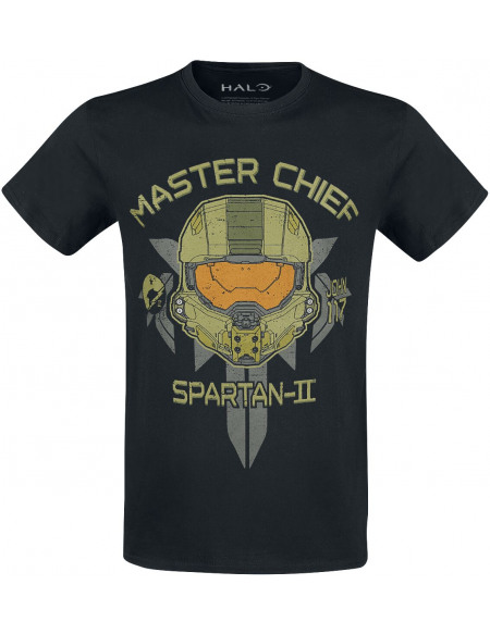 Halo Master Chief Spartan II T-shirt noir