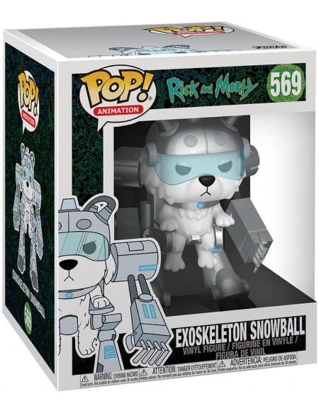 Rick & Morty Snowball Exosquelette (Oversize) - Funko Pop! n° 569 Figurine de collection Standard