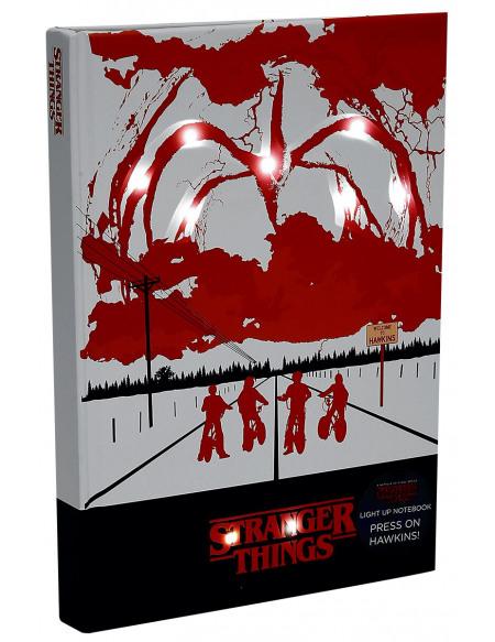 Stranger Things Mind Flayer mit Lichteffekt Cahier rouge