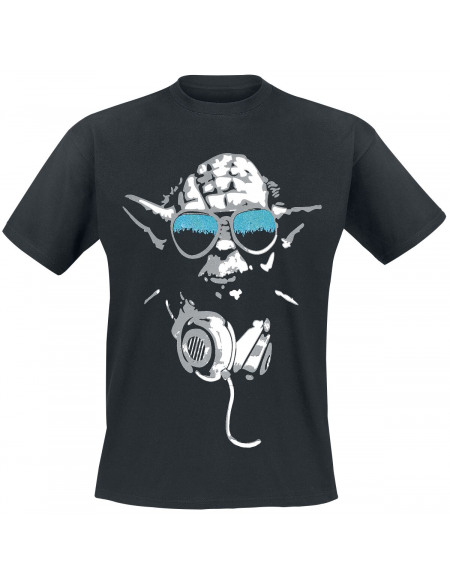 Star Wars Yoda Cool T-shirt noir