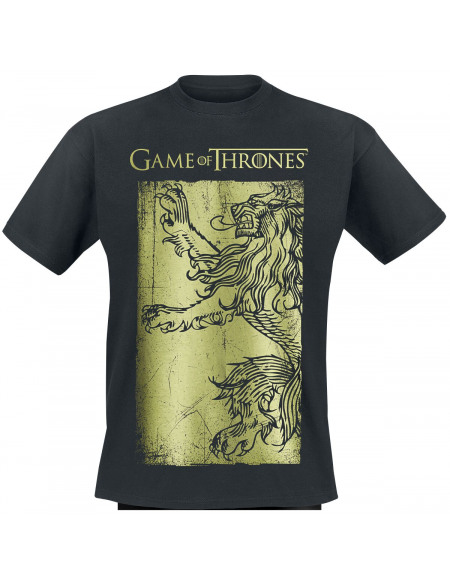 Game Of Thrones Lannister - Lion T-shirt noir