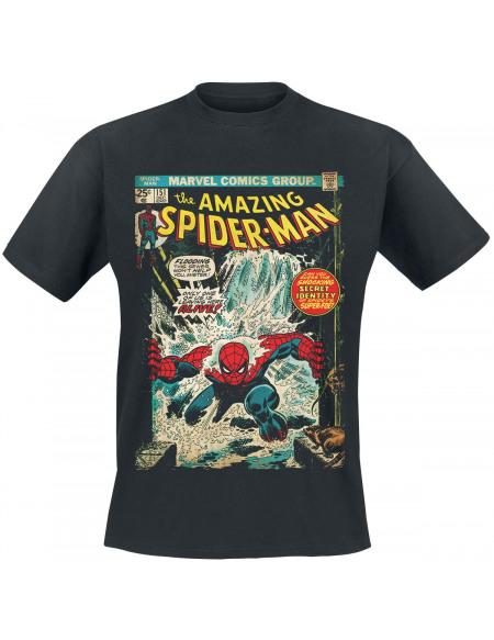 Spider-Man Couverture Comics T-shirt noir