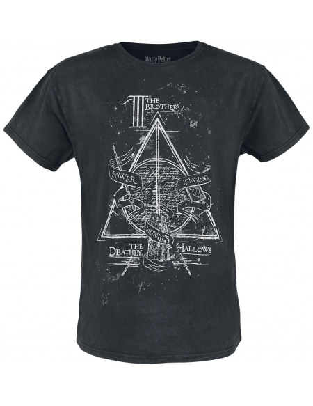 Harry Potter Les Reliques De La Mort T-shirt noir