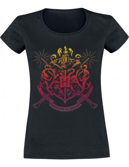 Harry Potter Liste De Fournitures Scolaires De Poudlard T-shirt Femme noir