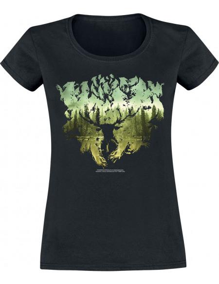 Harry Potter Silhouette T-shirt Femme noir