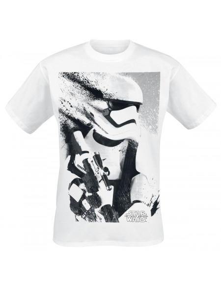 Star Wars Épisode 7 - Le Réveil De La Force - Stormtrooper Splatter T-shirt blanc