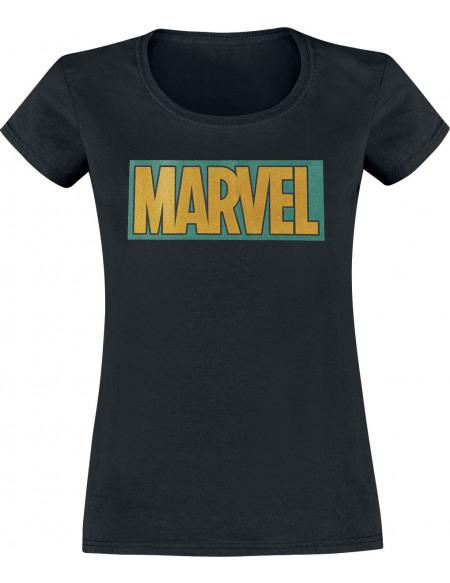 Loki Marvel Logo T-shirt Femme noir