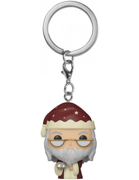 Harry Potter Holiday Dumbledore Pocket Pop! Porte-clés Standard