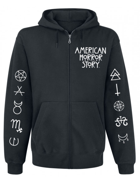 American Horror Story Normal People Sweat Zippé à Capuche noir