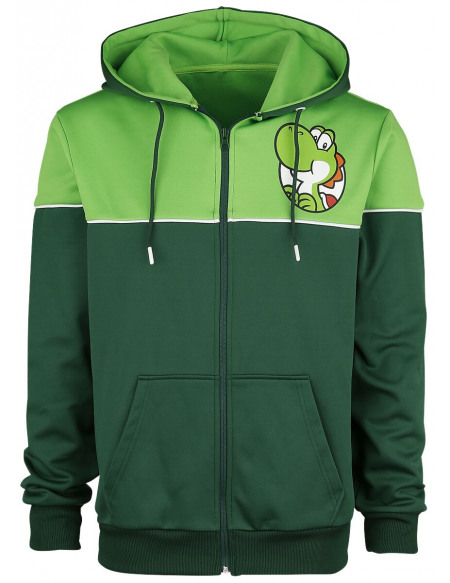 Super Mario Yoshi's Adventure Sweat Zippé à Capuche vert