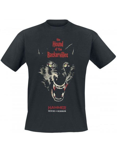 Hammer House Of Horror The Hound Of The Baskerville T-shirt noir