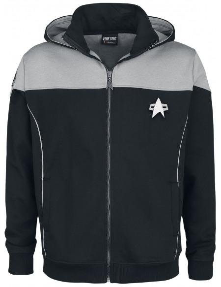 Star Trek Picard Sweat Zippé à Capuche noir/gris