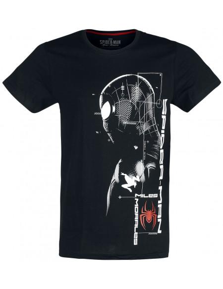 Spider-Man Miles Morales - Silhouette T-shirt noir