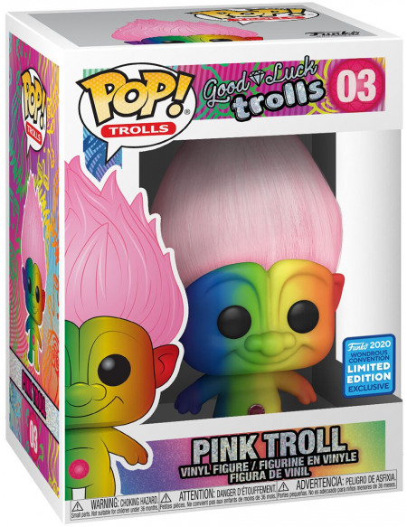 Figurine Funko Pop Trolls Classic Rainbow Troll with Pink Hair Exclusivité Fnac