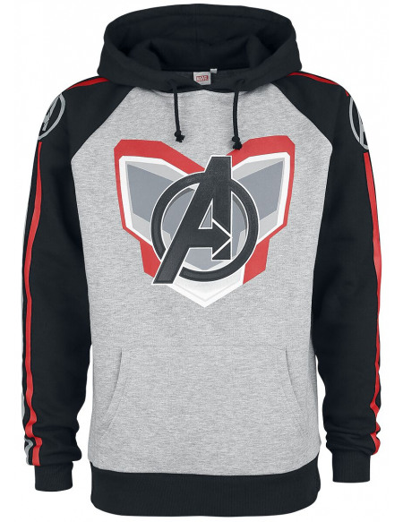 Avengers Endgame - Uniform Sweat à capuche gris chiné/noir