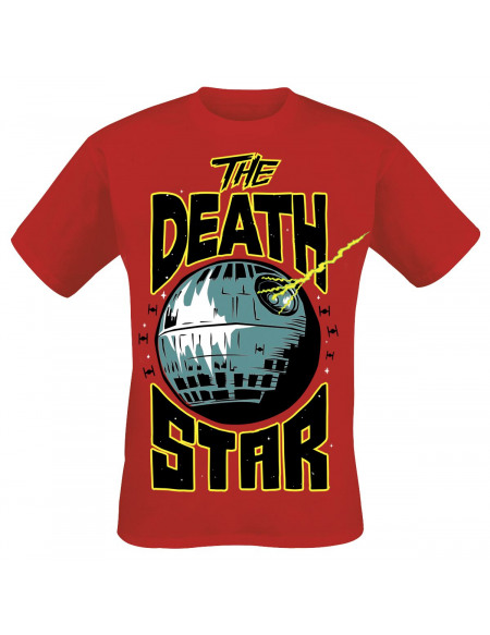 Star Wars Death Star Destruction Tour T-shirt rouge