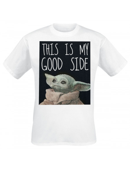 Star Wars The Mandalorian - This Is My Good Side T-shirt blanc